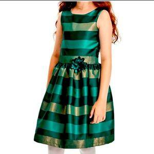 4T- Girls Jacquard Dress, Deep Grove